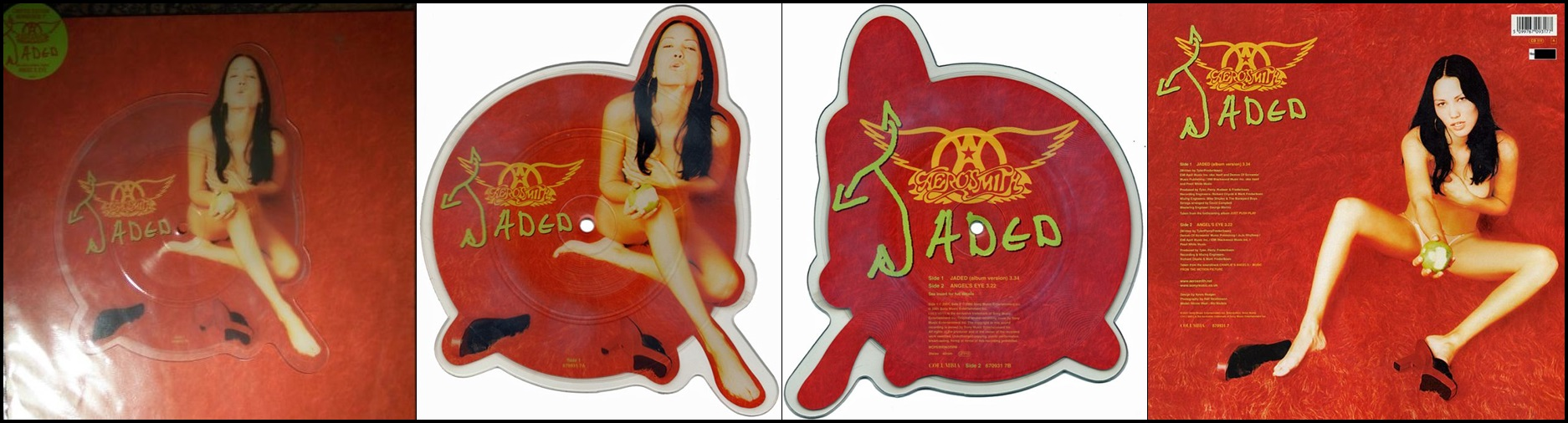 Aerosmith-Jaded-Picture Disc-Cover -Insert-Sticker